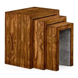 Jonathan Charles - New Jonathan Charles Nesting Tables Walnut - Product Details
