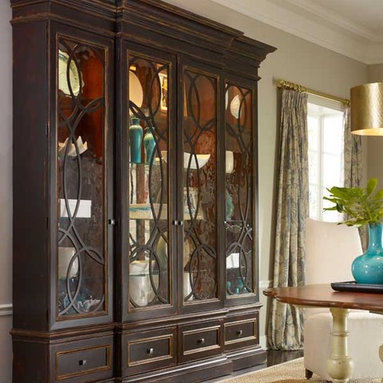 American Treasures East Hampton Display/Media Cabinet with Mirrored Doors - One of many designs in Habersham's American Treasures ® Collection of copyrighted furniture designs.