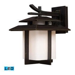 ELK Lighting - ELK Lighting 42171/1-LED Kanso Hazelnut Bronze Outdoor Wall Sconce - ELK Lighting 42171/1-LED Kanso Hazelnut Bronze Outdoor Wall Sconce