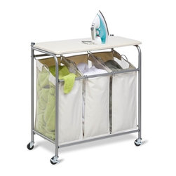 Ironing And Sorter Combo Laundry Center - Dimensions:  16.5 in l x31 in d 33 in h (41.91 cm l x 78.74 cm w x 83.82 cm h)
