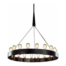 """36"""" Candelaria Chandelier - Well hello there, chandelier of perfection. I love your modern lines, yet the way you hint slightly at nostalgia is sublime. I'll see you hanging in my dining room next."""