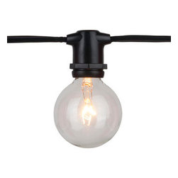 Outdoor Patio String Lights, Black - If your patio lacks good lighting, or if you just want to enhance the overall feel of the gathering, opt for outdoor patio string lights like these.