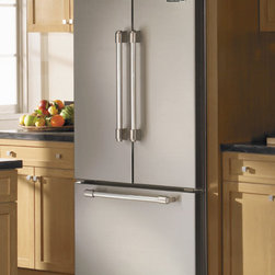 """Viking D3 French Door Refrigerator - 36"""" French Door Refrigerator with Bottom-Mount Freezer, 21.8 Cu. Ft. Total Capacity, Cabinet-Depth Design, Energy Star Qualified, Adjustable Cold Zone™ Drawer, Tri-level Slide-out Baskets, Internal Filtered Water Dispenser, Electronic Controls, Customizable Handle Inserts"""