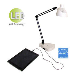 HomeSelects International - HomeSelects International 7607 Charger 1 Light Energy Star LED Desk Lamp - Features: