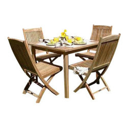 "Brunswick 4 Person Dining Set - This Brunswick Set includes 4 Folding Side Chairs and 1 36"" Dining Table."