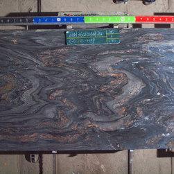 Royal Stone & Tile Slab Yard in Los Angeles - Earth Glitter Quartzite Granite Slabs at Royal Stone & Tile in Los Angeles, CA