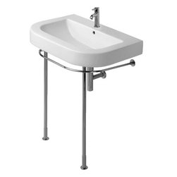 Happy D. Washbasins Metal Console - The perfect mix of vintage and sleek, this wall-mount sink by Happy D. is just right for the petite powder room.