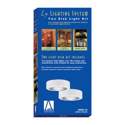"Sea Gull Lighting - Sea Gull Lighting 9888 Ambiance LX Set of 2 Under Cabinet Lights - 3 1/8"" Diameter Two Disk Light Kit"