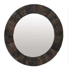 Lazy Susan - Lazy Susan LZS-344023 Buffalo Horn Mirror - A geometric display of natural buffalo horn is handcrafted to perfection. Hang this mirror in an entryway or over a console for an eye-catching accent to your decor. Then let everyone ask the mirror, mirror question.