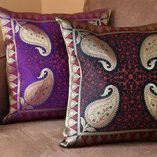 Asian Decorative Pillows by Banarsi Designs