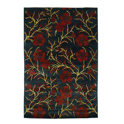"""MET976C Metro Rug - 2'6""""x10' - This collection features a variety of vivid, striking colors and modern floral patterns inspired by classic designs. Add soft luxury and bold elegance to your living area with the Safavieh Metro Collection."""