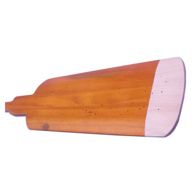 """Handcrafted Model Ships - Wooden Hamilton Squared Rowing Oar with Hooks 36"""" - Wooden Oar - Classically styled and Hand-painted for authenticity, this Wooden Hamilton Squared Rowing Oar with Hooks 36 inch is the perfect nautical wall art for any beach home or office. Breathing with the atmosphere of the sea, this nautical wood boat oar decoration exudes the freedom found on the open ocean, and the warm competitive spirit of racing. Enjoy the chic nautical style of this Wooden Hamilton Squared Rowing Oar with Hooks 36 inch, indoors or out, and place it with pride."""