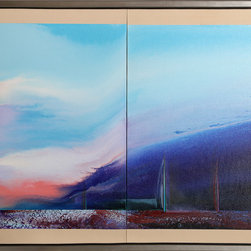 Ted Lownik, Sailing Diptych, Oil Painting - Artist:  Ted Lownik, American