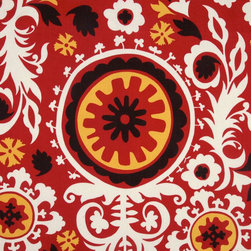 Premier Prints Indoor/Outdoor Suzani American Red - I am loving the big, bold suzani prints lately. They work well with both modern and more traditional or transitional spaces.