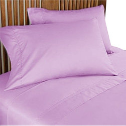 SCALA - 600TC 100% Egyptian Cotton Solid Lilac Full XL Size Sheet Set - Redefine your everyday elegance with these luxuriously super soft Sheet Set . This is 100% Egyptian Cotton Superior quality Sheet Set that are truly worthy of a classy and elegant look. Full XL Size Sheet Set includes:1 Fitted Sheet 54 Inch (length) X 80 Inch (width) (Top surface measurement).1 Flat Sheet 81 Inch(length) X 96 Inch (width).2 Pillowcase 20 Inch (length) X 30 Inch (width).