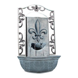 The Bordeaux Wall Fountain, Slate Grey - The Bordeaux Wall Fountain is a centerpiece of serenity and beauty of nature for your garden or outdoor space. This fountain brings tranquility and serenity through its flowing sounds and a feeling of being one with nature.