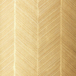 Chevron Texture in White Gold Wallpaper - What's not to love about gold and herringbone? This wallpaper would amp up the glam factor in any space.