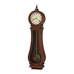 "Howard Miller - Howard Miller 49"" Triple Chiming Cherry Bordeaux Wall Clock 