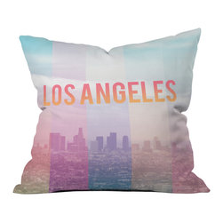 Catherine Mcdonald Los Angeles Outdoor Throw Pillow - Do you hear that noise? it's your outdoor area begging for a facelift and what better way to turn up the chic than with our outdoor throw pillow collection? Made from water and mildew proof woven polyester, our indoor/outdoor throw pillow is the perfect way to add some vibrance and character to your boring outdoor furniture while giving the rain a run for its money.