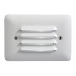 LANDSCAPE - LANDSCAPE Louvered Outdoor LED Mini Step Light X-THW28751 - The Textured White finish gives a clean look to this Kichler Lighting outdoor mini step light. The multiple horizontal shields help to diffuse the LED light for an elegant look with ample lighting.