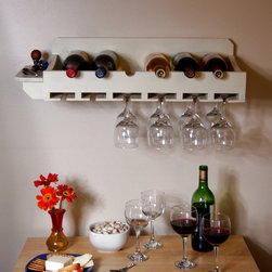 Wall-Mounted Win Rack - Wall-Mounted Wine Rack by Chris Hill