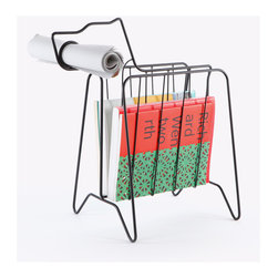 Companion Rack - Aw, what a good little helper! This magazine/newspaper rack is not only functional, but completely adorable.
