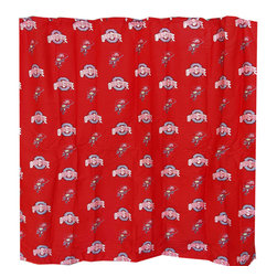 College Covers - NCAA Ohio State Buckeyes Shower Curtain Bathroom Decoration - Features: