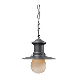ELK Lighting - ELK Lighting Maritime 42407/1 Outdoor Pendant - Graphite - 9W in. Multicolor - 4 - Shop for Pendants and Hanging Fixtures from Hayneedle.com! Add a hint of classic beauty to your decor with the ELK Lighting Maritime 42407/1 Outdoor Pendant - Graphite - 9W in.. Crafted with a design inspired by a nautical theme this pendant features a simple profile with a metal frame and warm granite finish. Its 36-inch metal chain lets you hang it above your door and shines a brilliant illuminating glow via a single 60-watt medium base bulb (not included).About E.L.K. LightingIn 1983 Adolf Ebenstein Jonathan Lesko and Russell King combined their lighting expertise to form E.L.K. Lighting Inc. From the company's beginning in eastern Pennsylvania it has become a worldwide leader featuring manufacturing facilities and showrooms in the U.S. and abroad. Award-winning designs and state-of-the-art engineering give their lighting outstanding quality and value and has made E.L.K. the choice of such renowned places as the Historic Royal Palaces of England and George Vanderbilt's Biltmore Estates. Whether a unique custom design or one of their designer lines all products are supported by highly trained technical and customer service teams. A commitment to providing superior lighting products with unmatched customer satisfaction remains at the heart of the E.L.K. family tradition.Please note this product does not ship to Pennsylvania.