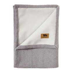 West Paw Design - Big Sky Blanket Dog Bed in Smoke White, Large - West Paw Design's Big Sky Blanket® for pets is hand sewn in Montana and these super plush blankets have faux suede on one side and silky fabric on the other. Available in home decor-friendly colors and big sizes to keep dog's dirt, dander and drool off couches, chairs, beds and backseats. So snuggly customers may want to buy two - one for themselves and one for their furry friends. Available in four color options: Coffee Bean Brown, Jade Green, Storm Blue and Smoke White. Machine washable (cold) and tumble dry. Made in Montana, USA