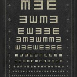 The Artwork Factory - Tumbling E Eye Chart Framed Artwork - Ready-to-Hang, 100% Made in the USA, museum quality framed artwork