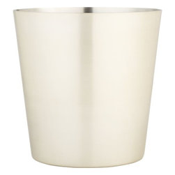 Orb Champagne-Wine Bucket - This wine bucket from Crate & Barrel has such a soft metallic finish.