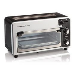 Hamilton Beach - Hamilton Beach 22720 2-slice Toaster - The Hamilton Beach Toastation Toaster and Oven is a compact two in one appliance. It's a toaster and an oven. The top slot works like a 2-slice toaster while the oven will fit two slices of pizza and is great for fries, chicken nuggets, and more.