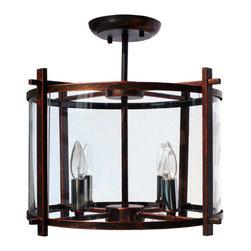Lightupmyhome - Round Dark Bronze Iron Flush Mount Ceiling Light Chandelier - This gorgeous ceiling lamp features a gorgeous dark bronze finish.