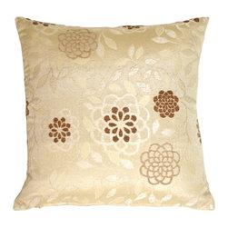 Pillow Decor - Pillow Decor - Floral on Cream Decorative Pillow - Floral on Cream Decorative Pillow