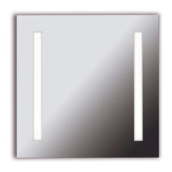 Kenroy - Kenroy 90830 Rifletta 2 Light Vanity Mirror - Lights and a mirror in one, Rifletta sits flush with just a 2 inch extension from the wall offering maximum surface in minimal space.  Contemporary and brilliantly lit, this functional design element is available in 3 sleek configurations.