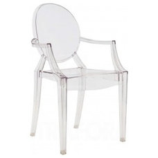 Kartell Lou Lou Ghost Chair   Crystal Transparent   Kartell   ghost chairs, tran