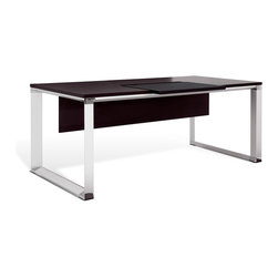 "Jesper Office Furniture - 500 Series 71"" Executive Desk in Espresso Laminate - Features:"