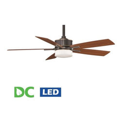 "Fanimation - Fanimation Landan 60"" 5 Blade DC Ceiling Fan - Blades, LED Light Kit, and Remote - Included Components:"
