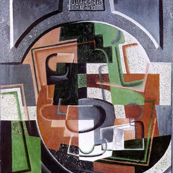 """Juan Gris Still Life on Plaque - 16"""" x 20"""" Premium Archival Print - 16"""" x 20"""" Juan Gris Still Life on Plaque premium archival print reproduced to meet museum quality standards. Our museum quality archival prints are produced using high-precision print technology for a more accurate reproduction printed on high quality, heavyweight matte presentation paper with fade-resistant, archival inks. Our progressive business model allows us to offer works of art to you at the best wholesale pricing, significantly less than art gallery prices, affordable to all. This line of artwork is produced with extra white border space (if you choose to have it framed, for your framer to work with to frame properly or utilize a larger mat and/or frame).  We present a comprehensive collection of exceptional art reproductions byJuan Gris."""
