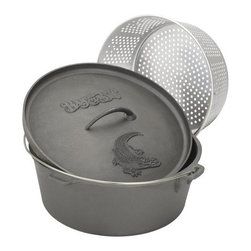 BARBOUR INT'L - 20QT Dutch Oven with LID and Basket - Features: