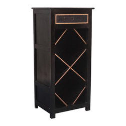 Diamond Shelf Indian Rosewood Night Stand End Table - Our open display end table cabinet can be used as a mini wine rack or decorative display case.
