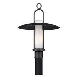 """Troy Lighting - Troy Lighting P3335 Carmel 1 Light Post Light - Troy Lighting P3335 Carmel 1 Light 21.5"""" High Outdoor Post LightThe Carmel Collection features wide brimmed rain shades, wrought iron hangers and beautiful Opal White glass diffusers.Troy Lighting P3335 Features:"""