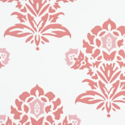 Serena & Lily - Jaipur Wallpaper Weathered Coral - A block-print inspired floral that 's pure romance. Rendered in beachy shades of coral, it 's a perfect punch of color on pure white. Printed by one of the country 's most historic wallcovering manufacturers on presses that date back to 1895, each roll celebrates the rich craft of wallpaper making.