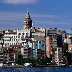 Galata Tower Istanbul Photo Wall Mural - Galata Tower Istanbul - Peel And Stick Mural - 12 Feet Wide X 8 Feet High