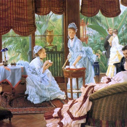 """James Tissot In the Conservatory (also known as The Rivals) - 18"""" x 24"""" Premium - 18"""" x 24"""" James Tissot In the Conservatory (also known as The Rivals) premium archival print reproduced to meet museum quality standards. Our museum quality archival prints are produced using high-precision print technology for a more accurate reproduction printed on high quality, heavyweight matte presentation paper with fade-resistant, archival inks. Our progressive business model allows us to offer works of art to you at the best wholesale pricing, significantly less than art gallery prices, affordable to all. This line of artwork is produced with extra white border space (if you choose to have it framed, for your framer to work with to frame properly or utilize a larger mat and/or frame).  We present a comprehensive collection of exceptional art reproductions byJames Tissot."""