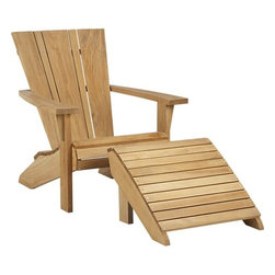 Vista Adirondack Chair with Ottoman - This is a cool modern take on the classic Adirondack chair.