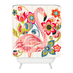 DENY Designs - Valentina Ramos Domingo Shower Curtain - Who says bathrooms can't be fun? To get the most bang for your buck, start with an artistic, inventive shower curtain. We've got endless options that will really make your bathroom pop. Heck, your guests may start spending a little extra time in there because of it!