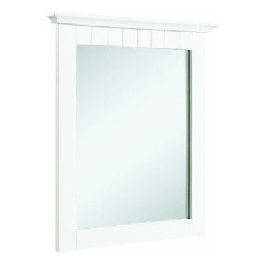 """DHI-Corp - Cottage White Mirror, 21"""" by 24"""" - The Design House 541581 Cottage White Mirror features a white finish. This product has a rustic shabby chic design, meshing modern construction with vintage aesthetics, and has a thick border. This mirror measures 21-inches by 1.75-inches by 24-inches and adds a rustic charm to your home decor. With a country living design, this mirror graces your home with its bright finish and clean lines. This product is perfect for remodeling your bathroom and matches painted cabinets and granite counter tops. This mirror is designed to withstand years of repeated use and outlasts mirrors of equal or greater value. This mirror will not chip or stain in steamy bathrooms. Use this mirror for shaving or applying makeup in the morning. The Design House 541581 Cottage White Mirror has a 1-year limited warranty that protects against defects in materials and workmanship. Design House offers products in multiple home decor categories including lighting, ceiling fans, hardware and plumbing products. With years of hands-on experience, Design House understands every aspect of the home decor industry, and devotes itself to providing quality products across the home decor spectrum. Providing value to their customers, Design House uses industry leading merchandising solutions and innovative programs. Design House is committed to providing high quality products for your home improvement projects."""