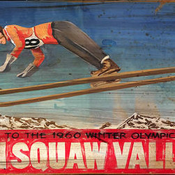 Red Horse Signs - Retro Vintage Ski Signs Squaw Valley Olympics Sign - Retro  Vintage  Ski  Signs  -  Squaw  Valley  Olympics  Sign          Add  the  name  of  your  favorite  ski  resort  to  our  retro  vintage  Squaw  Olympics  sign  for  a  special  personal  touch  in  a  rustic  styling.  Select  from  the  14x24  size  or  the  20x30  size.  If  you  choose  to  customize  the  sign,  be  sure  to  include  appropriate  wording  in  the  boxes  provided.  Or,  call  888-653-2276  to  talk  with  one  of  our  customer  service  specialists.  Without  custom  changes,  this  sign  reads,  Ski  Squaw  Valley,  Host  to  the  1960  Winter  Olympic  Games.  Please  allow  up  to  three  weeks  for  delivery.          Product  Specifications:                  Rustic  Style              14x24              Printed  directly  to  distressed  wood              Customize  for  personal  touch