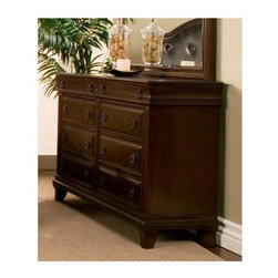 Alpine Furniture - Beaumont Dresser - Eight drawers. Warranty: Six months. Made from poplar solids and cherry veneer. Cappuccino finish. Made in Vietnam. 62 in. W x 18 in. D x 38 in. H